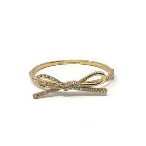 Kate Spade Tied Up Bow Bangle Hinged Gold
